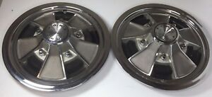 2 F100 Galaxie Xl Gt Mustang Van 15 Mag Hub Cap wheel Cover Shelby