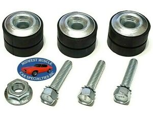 Gm Windshield Washer Wiper Motor Mounting Bushing Rubber Grommets Screws 7p Nu