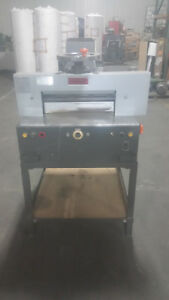 Imperial Uchida Power Operated Paper Cutting Guillotine Model 46 Runs Great