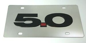 5 0 Mustang Emblem Chrome Stainless Steel License Plate licensed Ford Usa Made