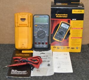 Fluke 88v Automotive Multimeter With Leads Manual Box Etc Nice