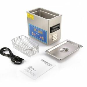 New Stainless Steel 3l Industry Ultrasonic Cleaner Heater W timer Jewelry Watch