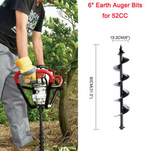 6 Earth Auger Bits For Gas Powered Post Hole Digger Soil Drill
