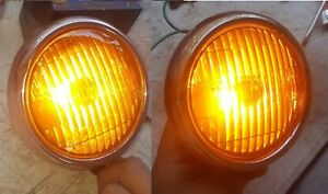 Amber Fog Lights Guide 2004 A 12 Volt New Bulbs Rat Rod Chevy Ford Vw