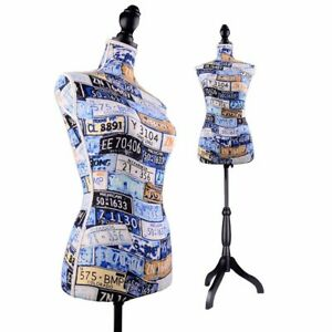 Female Torso Mannequin Clothing Dress Form Jewelry Hangers Display Tripod Stand