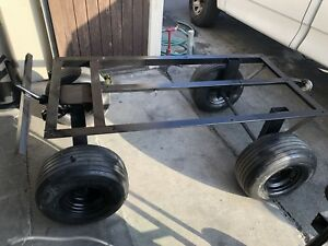 Material Moving Cart Towable Heavy Duty Solid Wheels 2000lb Capacity