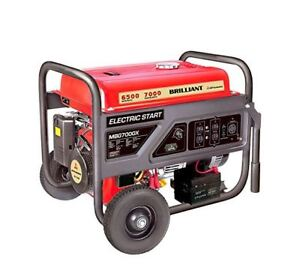 Portable Industrial Generator 6500 Watt Electric Start 392cc Carb Approved