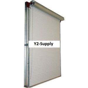 New 14 X 14 White 2500 Series Roll up Dock Door W 4 1 Reduction Drive Chain