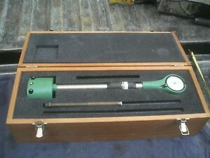 Federal Dial Bore Gauge Model 1201p 4 In Wooden Box