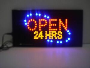 Open 24 Hours Neon Led Sign store Sign shop Sign business Sign window Sign