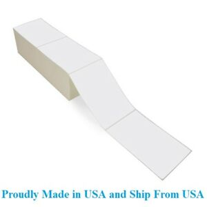 8000 Fanfold 4 X 6 Direct Thermal Labels Shipping Barcode Labels Zebra Ups
