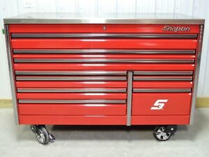 Snap On Candy Apple Red 68 Epiq Tool Box Toolbox Stainless Steel Top