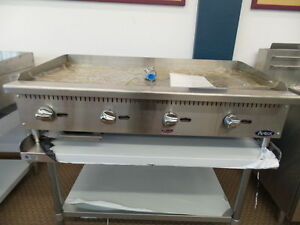 New 48 Flat Griddle Manual With Stainless Equipment Stand Package Plancha Gas