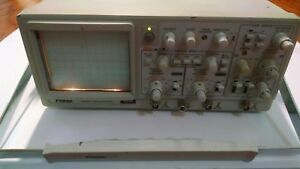 Protek 6510 Oscilloscope 100mhz 2 Channel light Up In Screen For Parts Needed