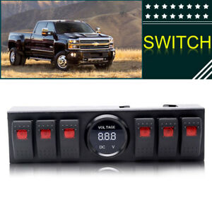 6 Rocker Switch Panel With Voltmeter Switch Panel Jk For Jk 2012