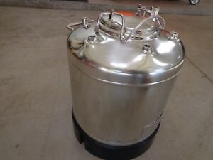 Alloy Products Corp Pressure Tank 5 Gallon 316l Stainless Steel
