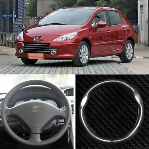 15 High Quality Carbon Fiber Leather Steering Wheel Cover For Peugeot 307 2008