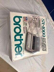 Brother Sx 4000 Electronic Lcd Display Typewriter With Dictionary In Box