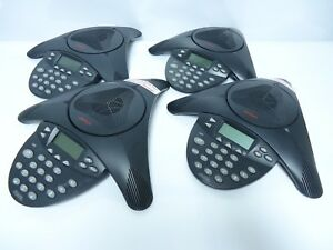 Lot Of 4 Avaya Polycom 2201 15680 001 1692 Ip Conference Phone Station