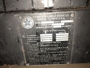 Comstock castle Commercial Stove Co C3430 4