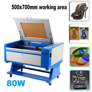 80w Co2 Usb Laser Cutter Engraving Cutting Machine 700x500mm 7 8 Lifting Table