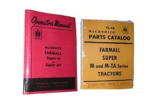 Farmall Super M Mv Owners Parts Catalog 2 Manual Set