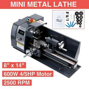 8 x 14 Mini Metal Lathe Machine Variable Speed 650w Dc Motor Driven