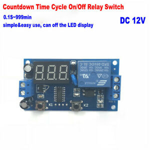 Led Display Timing Timer Relay Switch Dc 5v 12v Infinite Cycle Delay Turn On off