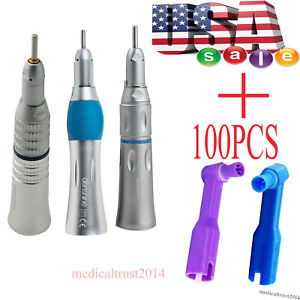 Usa 100pcs Non latex Dental Soft Cup Prophy Angles low Speed Straight Handpiece