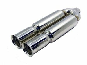 Obx Universal Stainless Dual Bazooka Style Muffler W Flared Tips