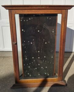 Antique Vtg Starrett Tools Oak Store Display Showcase
