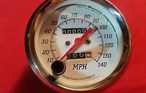 Omega Kustom Speedometer Gauge With Tripmeter Chevy C10 Chevelle Pontiac Ford