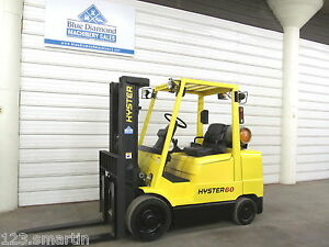 2004 Hyster Forklift S60xm 6 000 Lb Lift Lp Gas Three Stage Mast Mazda Engine