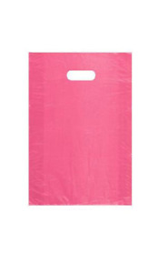 1 000 Wholesale 18 High Density Pink Plastic Merchandise Shopping Bags