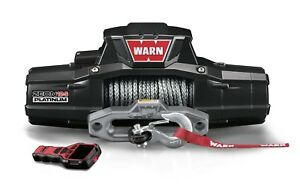Warn 95960 Zeon Platinum 12 S Recovery 12000lb Winch With Spydura Synthetic Rope