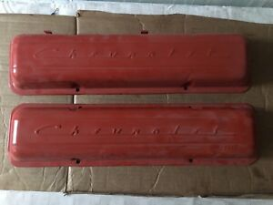 Chevy 283 327 Steel Script Valve Covers will Ship