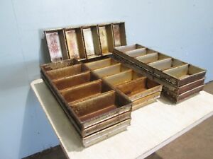 assorted Lot Of 9 H d Commercial 5 Loaves Sets Bread Baking Steel Pans
