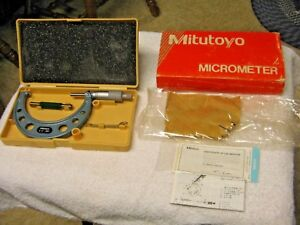 Brand New Mitutoyo Outside Micrometer No 103 180 Japan 3 4 001 Never Used