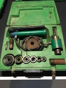 Greenlee 7306 Hydraulic Driver Punch Set 1 2 2 Bonus 4 Knockout Conduit