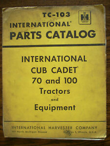 Ih Farmall International Cub Cadet 70 100 Tractor And Equipment Parts Manual