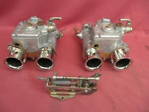 Vintage Italian Weber 40dcoe 28 Side Draft Carbs Pair