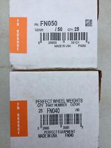 2 Boxes Perfect Fn050 Fn040 Wheel Weights Clip On Coated Lead Tire Weights