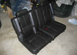 07 14 Chevy Tahoe Suburban Gmc Yukon Xl 3rd Row Seats Ebony Black Leather Third