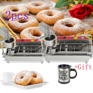 2xautomatic Commercial Donut Fryer Maker Making Machine Donut Robot Usa gift