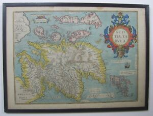 Scotland Antique Map By A Ortelius 1573 1612