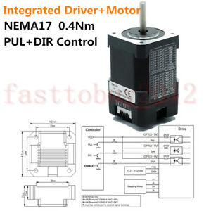 Nema17 Integrated Stepper Motor Driver 0 4nm 57oz in Pul dir Control 15 32vdc