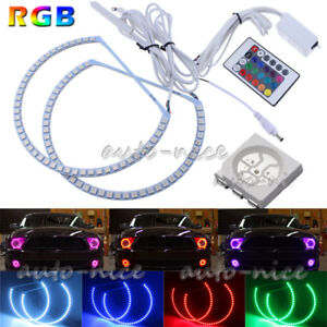 Rgb Multi color Led Angel Eyes Halo Rings For 05 09 Ford Mustang W Remote 158mm