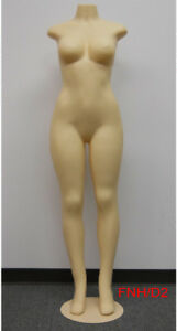 Female Brazilian Style Mannequin full Body headless no Arms Metal Base