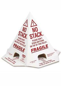 50 Corrugated No Stack Pallet Cones 8 X 8 X 10 New Selling For Half Price