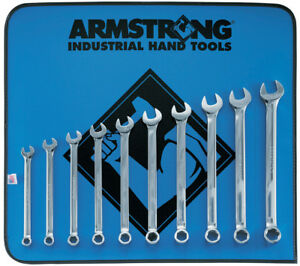 Metric Long Combo Wrench Set With Vinyl Roll 10 19mm 10 Pieces New 52 623
